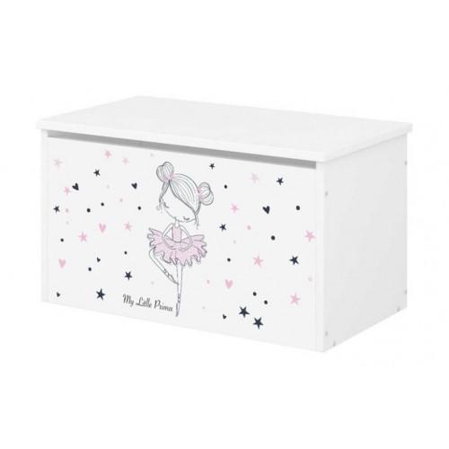 Babyboo Box na hračky s motívom Baletka