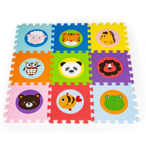 ECO TOYS Pěnové puzzle - Zvieratká - 9ks