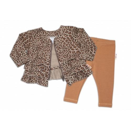 BABY NELLYS Tepláková súprava Gepard, 2 dielna, hnedá, veľ. 68