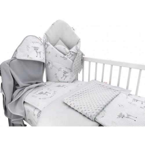 Baby Nellys 6-dielna výhod. súprava pre bábätko s darčekom,120 x 90, Koloušek ružový/mäta