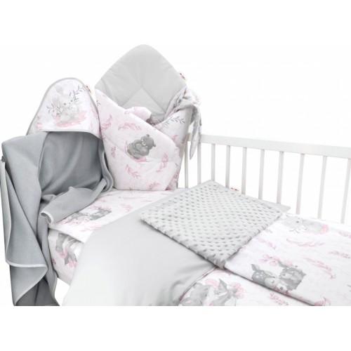 Baby Nellys 6-dielna výhod. súprava pre bábätko s darčekom,135 x 100, LULU, růžová,šedá