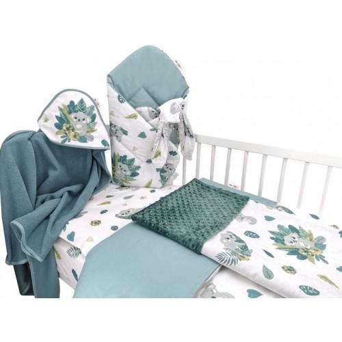 Baby Nellys 6-dielna výhod. súprava pre bábätko,135 x 100, Tropical Koala - zelená, biela