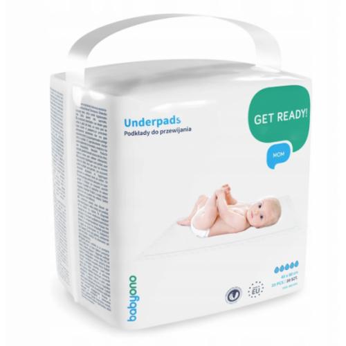 BabyOno Hygienická podložka na prebaľovanie 40 x 60 cm - 20 ks