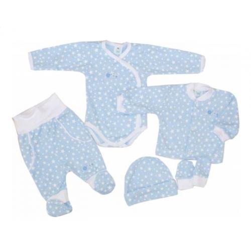 5-dielna súpravička do pôrodnice Hviezdička, modrá, veľ. 56