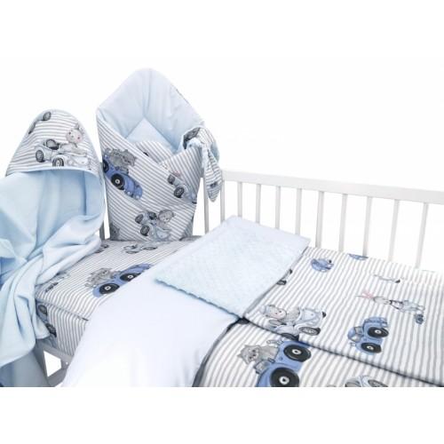 Baby Nellys 6-dielna výhod. súprava pre bábätko s darčekom,120 x 90, Baby Car, modrá
