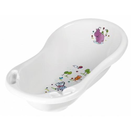 Keeeper Detská vanička s výpusťou, Hippo 84 cm - Biela