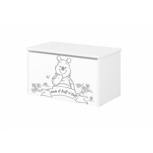 Babyboo Box na hračky s motívom  Medvídek PÚ - black