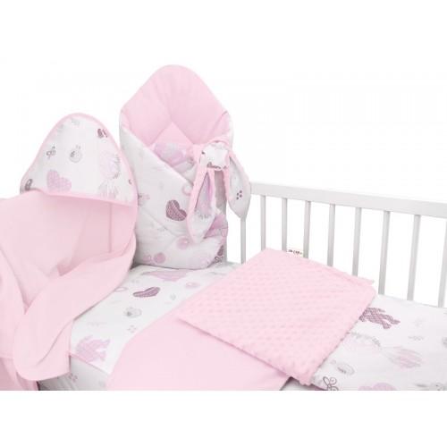 Baby Nellys 6-dielna výhod. súprava pre bábätko s darčekom,120 x 90, New Love Baby, růžová