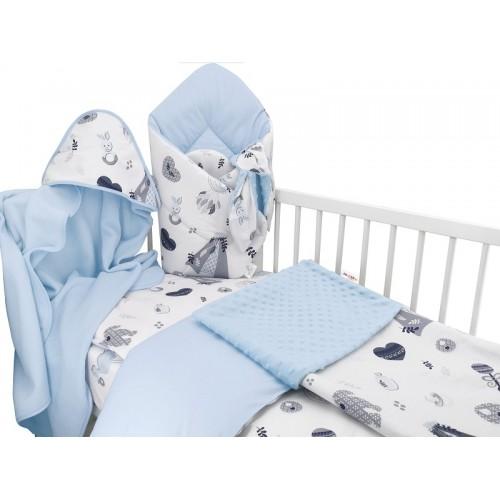 Baby Nellys 6-dielna výhod. súprava pre bábätko s darčekom,135 x 100, New Love Baby, modrá