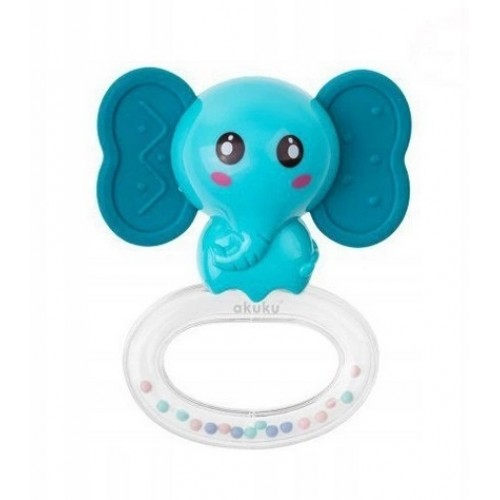Akuku Hrkálka Slon - modrý