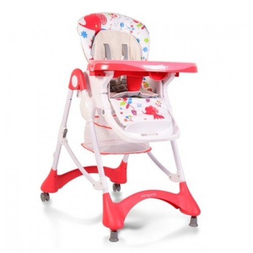 Cangaroo Jedálenská stolička Mint - červená