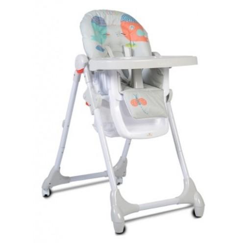 Cangaroo Detská jedálenská stolička Kimchi - sv. sivá
