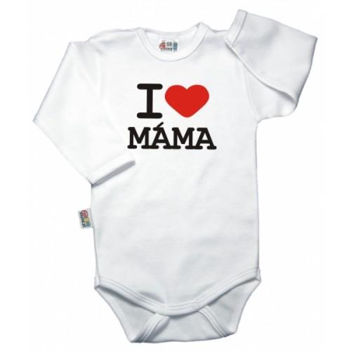 DEJNA Body dl. rukáv Kolekcia I Love Mama - biele, vel´. 86, K19