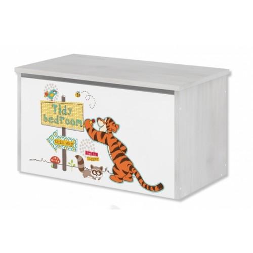BabyBoo Box na hračky, truhla Disney - Medvedík PÚ a tigrík, D19