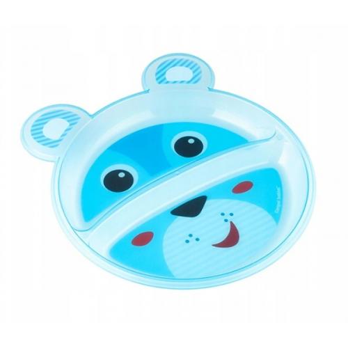 Canpol babies Plastový tanierik dvojkomorový - Medvedík
