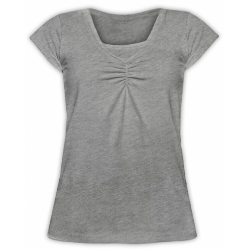 JOŽÁNEK Dojčiace, tehotenské tričko KARIN - sivý melír