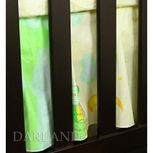 Darland Krásny volánik pod matrac - Obláčik zelený