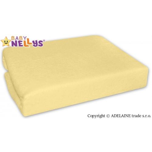 Nepremokavé prestieradlo Baby Nellys ® - Krémovo žlté