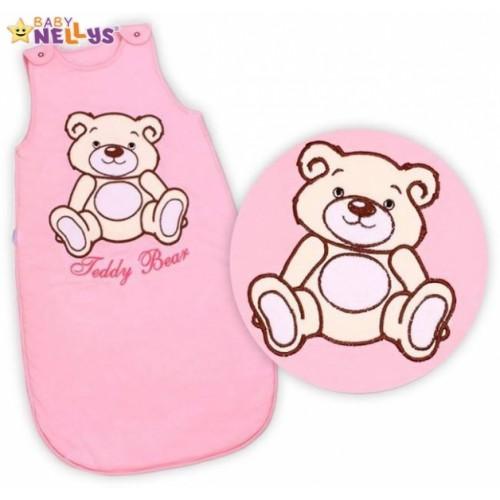 Spací vak Medvedík Teddy Baby Nellys - sv. ružový veľ. 1