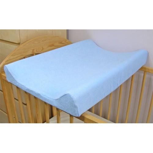 Baby Nellys Froté poťah na prebaľovaciu podložku, 70x50cm  - modrý