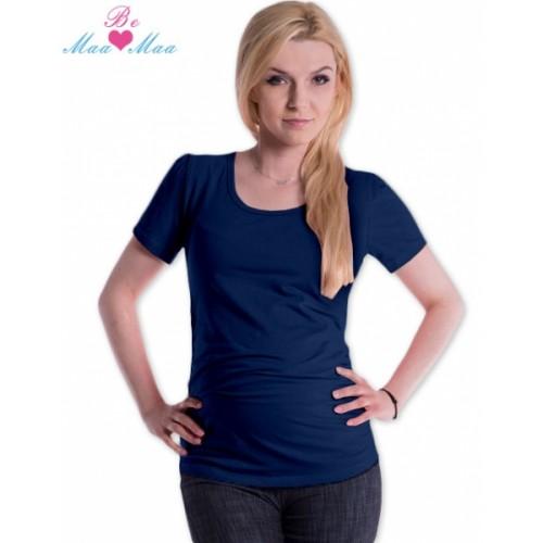 Be MaaMaa Tričko JOLY bavlna nielen pre tehotné - navy jeans