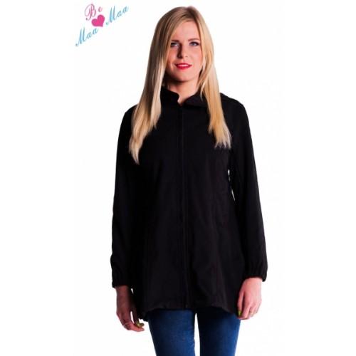 Be MaaMaa Tehotenská softshellová bunda, kabátik - čierna