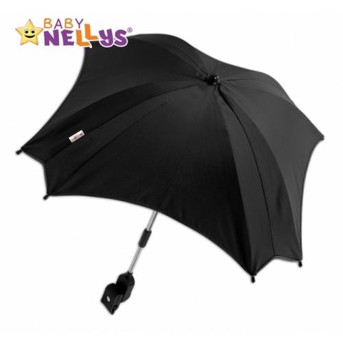 Slnečník, dáždnik do kočíka Baby Nellys ® - čierny