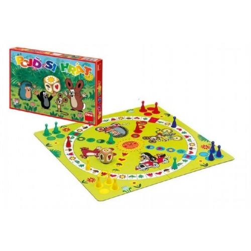 Poď sa hrať Krtko detská spoločenská hra 33x23x3,5cm v krabici