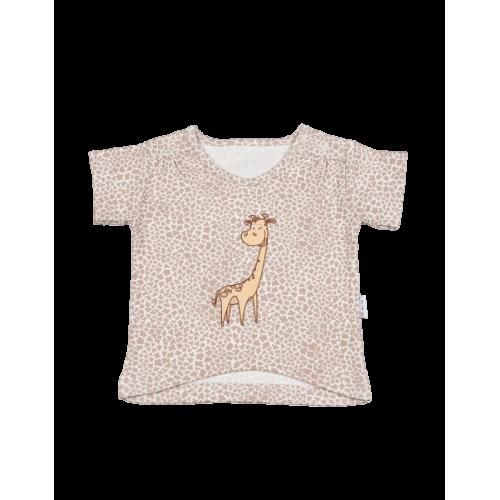 Mamatti Blúzka / tričko kr. rukáv - žirafka