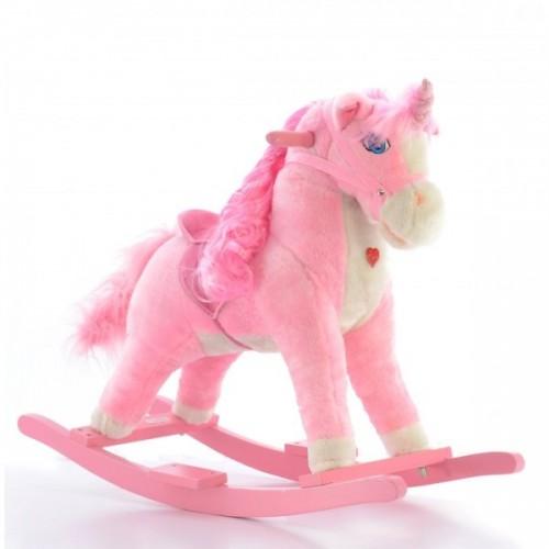 Euro Baby Hojdací koník Jednorožec - ružový