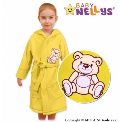 Baby Nellys Detský župan - Medvedík Teddy - krémový
