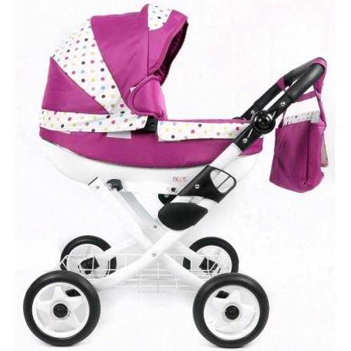 NESTOR Kočík pre bábiky  - amarantový