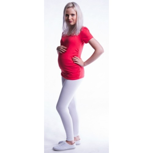 Be MaaMaa Tehotenské legíny - biele, K19
