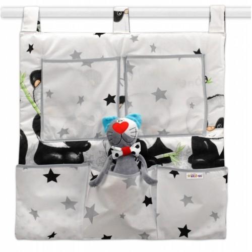 Baby Nellys  Kapsár na postielku Panda Baby Nellys,D19