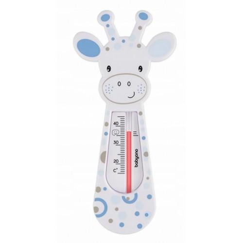 BabyOno Teplomer do vody Žirafa - biela/modrá