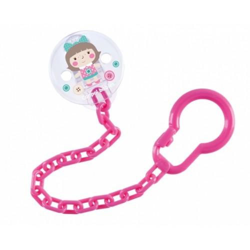 Canpol babies Retiazka na cumlík Toys - ružový