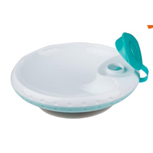 BabyOno Ohrievaci tanierik s prísavkou - mätová