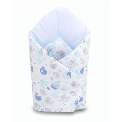 Baby Nellys  Novorodenecká zavinovačka Oceán Baby - modrá