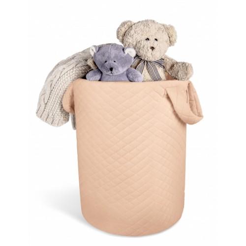 Box na hračky Velvet lux miminu, prešívaný - Marhul´ová