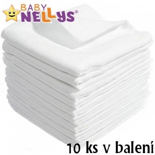 Kvalitné bavlnené plienky Baby Nellys - TETRA BASIC 70x80cm, 10ks v bal.