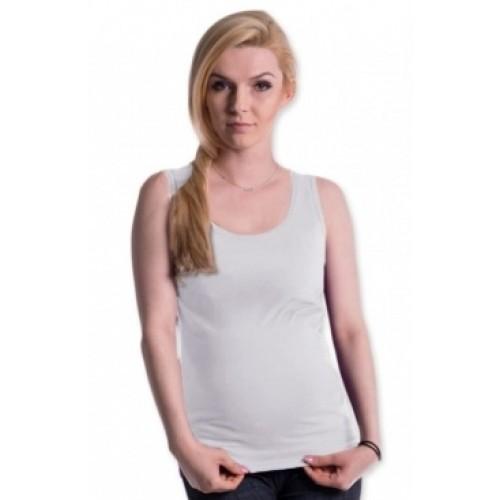 Be MaaMaa Tehotenské, dojčiace tielko s odnímateľnými ramienkami - biele