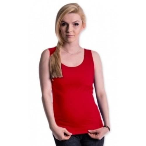 Be MaaMaa Tehotenské, dojčiace tielko s odnímateľnými ramienkami - červené
