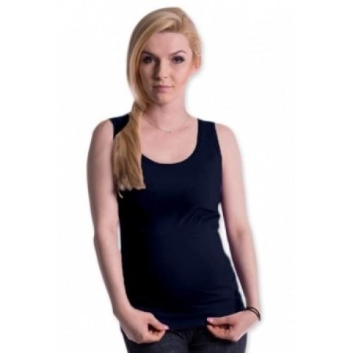 Be MaaMaa Tehotenské, dojčiace tielko s odnímateľnými ramienkami - navy