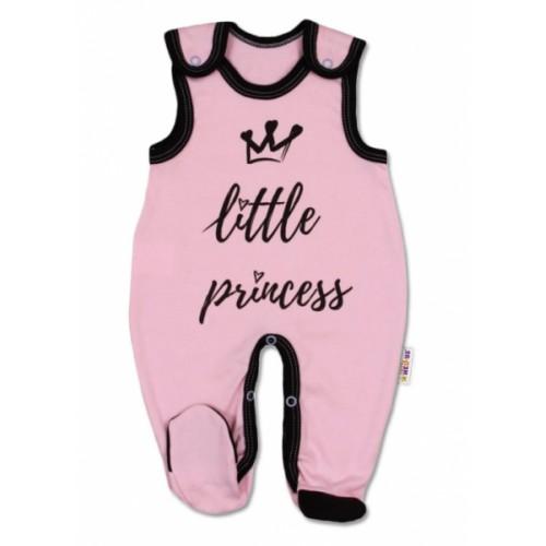 Baby Nellys Dojčenské bavlnené dupačky, ružové - Little Princess