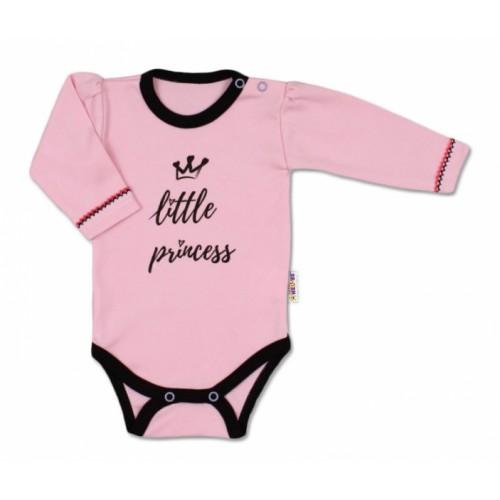 Baby Nellys Body dlhý rukáv, veľ. 62, ružové - Little Princess
