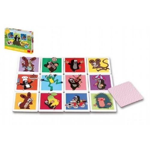 Teddies Veľké Krtečkova pexeso Krtko spoločenská hra v krabici 27x19x4cm 2+