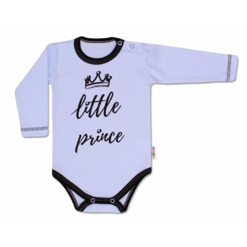 Baby Nellys Body dlhý rukáv, Little Prince - modré