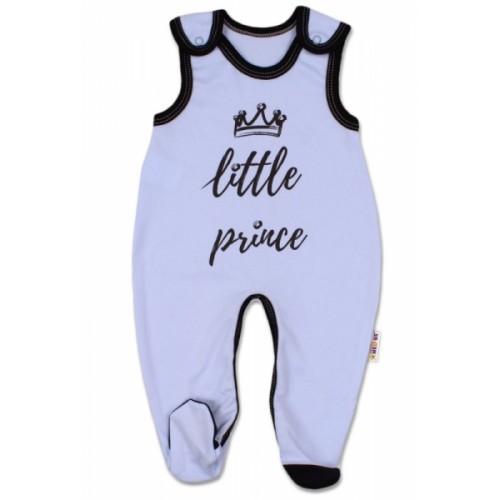 Baby Nellys Dojčenské bavlnené dupačky, Little Prince - modré