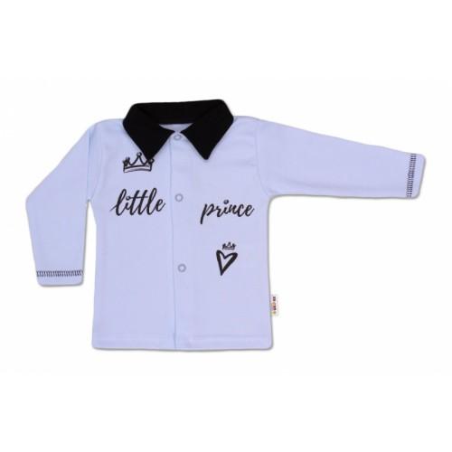 Baby Nellys Bavlnená košieľka Little Prince - modrá, veľ. 62