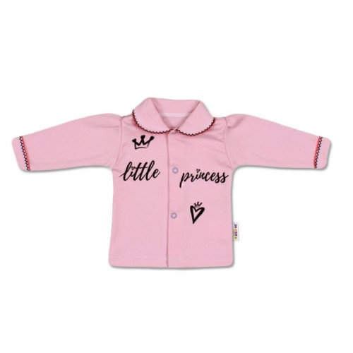 Baby Nellys Bavlnená košieľka Little Princess - růžová, veľ. 68